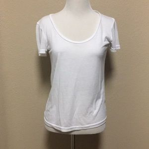 Brass plumb white tee shirt